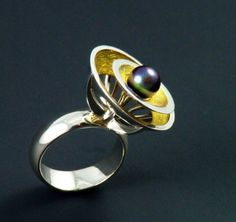 SALE Anybody out there Sterling silver 22K gold keum boo by pmgart, $240.00