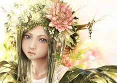 Anime Original Wallpaper More Wallpaper, Original Wallpaper, Wallpaper Backgrounds, Realistic Rose, Zelda Twilight Princess, First Art, Hair Ornaments, Yandere, Flowers In Hair