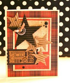 This is a great card but would make a great 12 x 12 framed shadow box or wall hanging!
