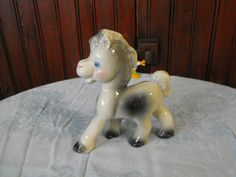 Vintage Rempel Diamond Pottery Co Frisky The by peacenluv72, $37.50