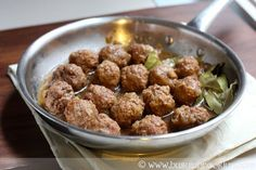 Melt in your mouth veal meatballs, so tender and delicious!