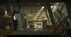 ArtStation - Post Office interior, Szymon Biernacki