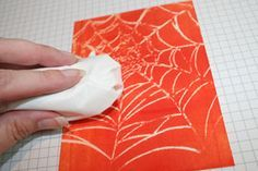this technique could be used all year with other embossing folders