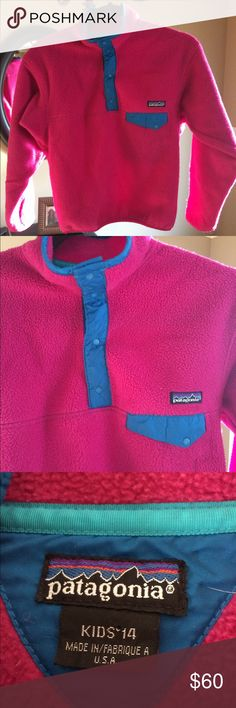 Girl's Patagonia Fleece Authentic Girl's Patagonia Warm Fuzzy Fleece. Excellent Condition (Fits like a woman's XS) Patagonia Jackets & Coats