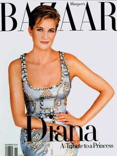 DIANA, Princess of WALES Duchess of ROTHESAY In ATELIER VERSACE Autumn/Winter 1991-92 for HARPERS BAZAAR photographed by MARIO TESTINO