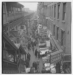 Lower Manhattan, Possibly Second or Third Avenue. Pre-1934 Period. Photo by Samuel H. Gottscho. Photo from the Library of Congress.