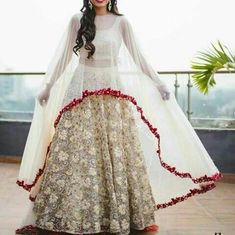 Beautiful Lehenga Is Covered With Lace Work. # LEHENGA : banglori satin with print. Indian Fashion Dresses, Indian Designer Outfits, Pakistani Dresses, Indian Outfits, Designer Dresses, Fashion Outfits, Eid Dresses, Fashion Advice, Lehenga Choli
