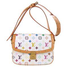 Louis Vuitton White Multicolored Sologne Handbag