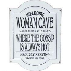 Woman Cave Plaque