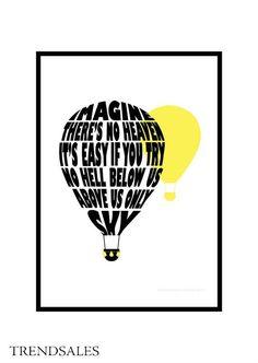 Eget Design - Grafisk illustration, billede, plakat, poster. Imagine...