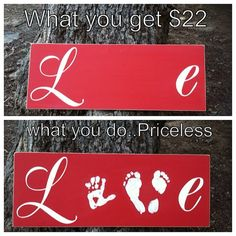 Love Hand & Foot Print by HopeStreetBoutique on Etsy, $22.00