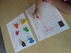 Brown Bear, Brown Bear Math Activities - We could use animal counters instead of M
