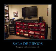 SALA DE JUEGOS - Todo gamer sueña con una como esta