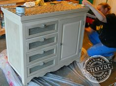 Baby Changing Table Turned Kitchen Island or Bar