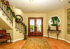 Spanish home entryway.