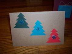 Homemade Christmas card Xmas Crafts, Paper Crafts, Motivational Pictures, Activity Days, Homemade Christmas, Stampin Up, Card Ideas, Christmas Cards, Crafty