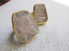 Rose Quartz Ring Gold,Raw Stone Ring,Gold Adjustable Ring,Large Statement Ring,Quartz Ring,Crystal Ring,Statement Ring,Boho Ring,Rustic Ring by OneTribeJewelry on Etsy https://www.etsy.com/listing/477763815/rose-quartz-ring-goldraw-stone-ringgold