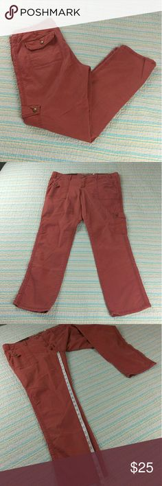 Anthropologie Daughters of the Liberation 31 Pants Anthropologie Daughters of the Liberation Size 31 Red Orange Cotton Cargo Pants Anthropologie Pants Trousers