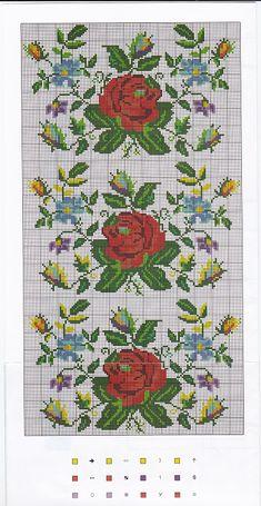 Cross Stitch Geometric, Cross Stitch Borders, Cross Stitch Rose, Cross Stitch Flowers, Cross Stitch Designs, Cross Stitch Embroidery, Embroidery Patterns, Hand Embroidery, Cross Stitch Patterns