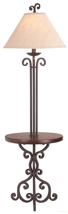 Kathy Ireland Hyde Park Floor Lamp With Glass Tray Kathy