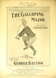 Sheet music for The Galloping Major