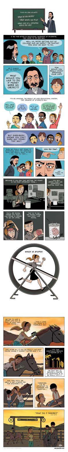 Alan Watts, illustrated - credit zenpencils.com
