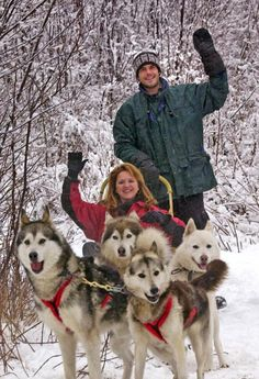 I wish I knew they had dog sled rides in New York and Vermont when I lived there.  Would love to do this one day!