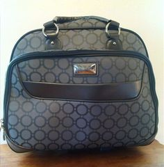 """Jennifer Lopez Carry On Luggage w/ Wheels Rolling Expandable Upright Gray 17.5"""" #AmericanFlyer"""