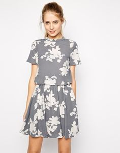 Oasis Shadow Floral 2 In 1 Dress