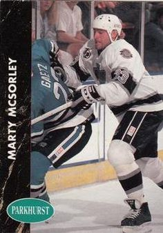 1991-92 Parkhurst #69 Marty McSorley Hockey Cards, Baseball Cards, World Of Sports, Trading Cards, Nhl, Picture Cards, Collector Cards