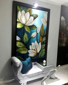Texture Painting On Canvas, Canvas Art, Water Lilies Painting, Indian Art Paintings, Floral Wall Art, Mural Art, Creative Art, Flower Art, Decoration