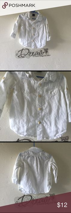babyGap long sleeve shirt babyGap long sleeve shirt for the baby boy color white size18-24 months regular price $25.00 now $12.00 babyGap Shirts & Tops Tees - Long Sleeve