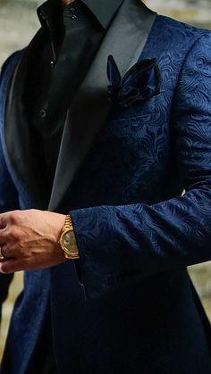 S by sebastian navy blue black paisley dinner jacket mensoutfits wedding suits men maroon mens fashion 23 ideas fashion wedding Groom Tuxedo, Tuxedo For Men, Tuxedo Suit, Designer Suits For Men, Designer Tuxedo, Herren Outfit, Mens Fashion Suits, Mens Suits Style, Men's Fashion Styles