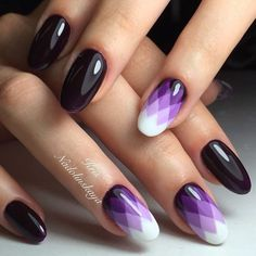 Accurate nails, Color transition nails, Evening dress nails, Gel polish on the nails oval, Ideas of winter nails, Long nails, Megan Fox nails, Nails ideas 2017