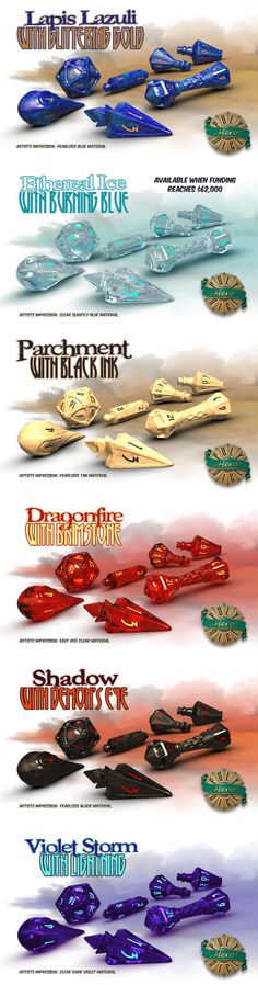 This is the already funded Kickstarter for a Wizard Set of gaming dice designed…