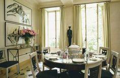 Parisian dining room ~ Verdi Visconti