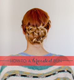 braided bun | @Emma Zangs Magazine January Issue