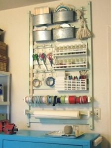 Repurpose old cribs. Scrapbook Organization