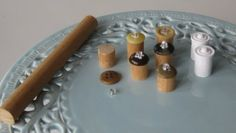Miniature canisters - a piece of dowel, a button and a bead!! - see pictures of finished canistersposting