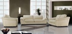 Wayfair Coupon >> 0710 Modern Beige Leather Sofa Set - VIG Furniture VG2T0710  Go withhttp://bit.ly/1gy9GfQ