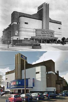 Art Deco cinemas: 8 pictures of Odeon cinemas then and now - some might even make you cry Unusual Buildings, Art Deco Buildings, Interesting Buildings, Beautiful Buildings, Interesting Stuff, Cinema Architecture, British Architecture, Drawing Architecture, Industrial Architecture