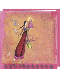 "Gaelle Boissonnard square greeting card ""L'anniversaire"""