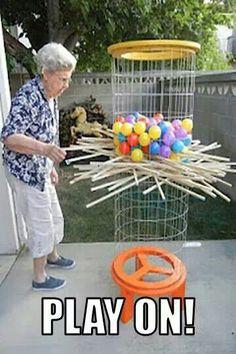 Life sized Kerplunk game!