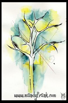 by Mandy Frank #watercolor #aquarell #tree