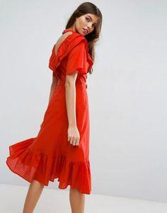 ASOS Prairie Midi Dress With Open Back.   dresslover.co.uk