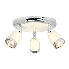 Kitchen Lighting B&q Kitchen edge 4 light retro cream gloss bar spotlight retro 3 spot kitchen light workwithnaturefo
