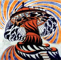 Cyril Power ~ The Merry-Go-Round, 1930 Linocut