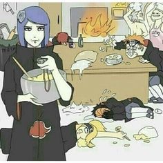 Haha this Fanart make laugh asf ~Credit To Artist ! I'm Obito on this pic Poor konan Wtffff pain face Hiden u bitch - Like My Last Post - Otaku Anime, Anime Naruto, Naruto Comic, Naruto Akatsuki Funny, Funny Naruto Memes, Naruto Cute, Naruto Shippuden Sasuke, Itachi, Sasori And Deidara