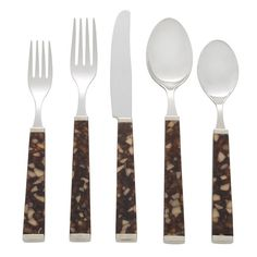 Colonna Tortoise Five Piece Place Setting
