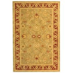 Anatolia Light Green/Red 5 ft. x 8 ft. Area Rug